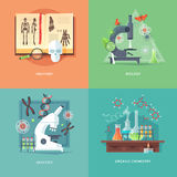 Education and science concept illustrations.  Stock Photography