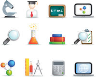 Education and science icon set Stock Photo