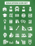 Education and science icons,Chalk version,On blackboard background.  Stock Photo
