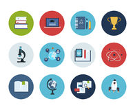 Education and science icons Royalty Free Stock Photography
