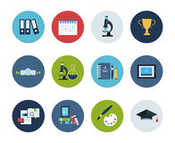 Education and science icons Royalty Free Stock Images