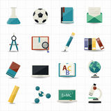 Education and Science icons. This image is a vector illustration Stock Image