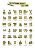 Education and science icons,paper version,On white background Royalty Free Stock Photo