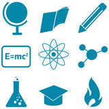 Education and science icons Royalty Free Stock Photo
