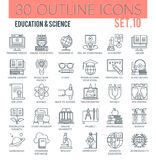 Education & Science Icons Stock Photo
