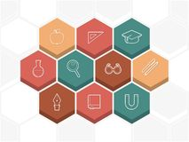 Education and science icons Stock Photography