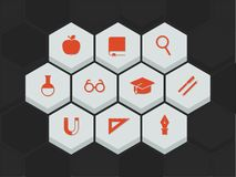 Education and science icons Royalty Free Stock Image