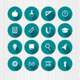 Education and science icons Royalty Free Stock Photos
