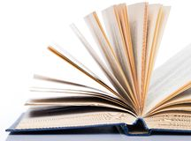 Education, science. Old book on white background. Old book on white background, on a table Royalty Free Stock Photos