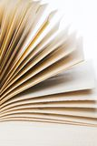Education, science. Old book on white background. Old book on white background, on a table Royalty Free Stock Photo
