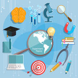 Education and Science online learning Royalty Free Stock Photography