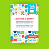 Education Science Poster Template Royalty Free Stock Photos