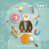 Education and science professor back to school Stock Photo