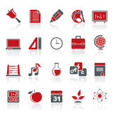 Education, science and studies icons Royalty Free Stock Photos