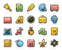 Education, science and studies icons Stock Image