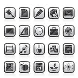 Education, science and studies icons. Vector icon set Stock Illustration
