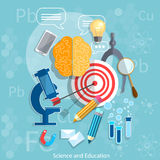 Education and Science target graduation concept chemistry Stock Photo