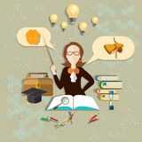 Education and science teacher of biology,  vector illustration Royalty Free Stock Image