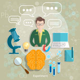 Education and science teacher classroom student study Stock Photo