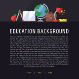 Education and science vector background with place for your text (template). Modern flat design. Stock Image