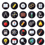 Education and science vector icons. Modern flat design. Royalty Free Stock Photo