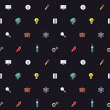 Education and science vector pattern. Modern flat design. Wrapping paper design Royalty Free Stock Photography