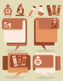 Education and science vector symbols and flat icons Royalty Free Stock Photo