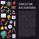 Education and science vector vertical background left side. Modern flat design. Stock Photography