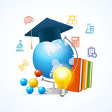 Education Sciense Concept. Vector Stock Images