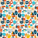 Education seamless pattern Stock Image