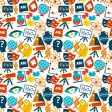 Education seamless pattern Stock Image