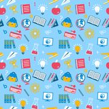 Education seamless pattern Royalty Free Stock Image