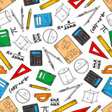 Education seamless pattern of school supplies Stock Image