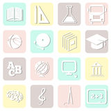 Education seamless, school pattern, vector Royalty Free Stock Photo