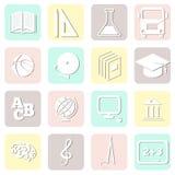 Education seamless, school pattern, vector. Illustrasion, icons Royalty Free Stock Photo