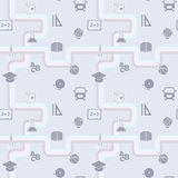 Education seamless, school pattern, vector Stock Photo
