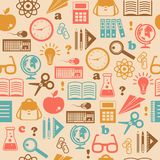 Education seamless wallpaper Royalty Free Stock Photo