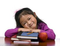 Education Series (books and apple) Royalty Free Stock Photos