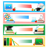Education - set of banners Stock Photos