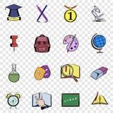 Education set icons Royalty Free Stock Photo