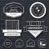 Education set label template of emblem element for your product or design, web and mobile applications with text. Vector vector illustration