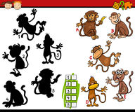 Education shadows game cartoon Royalty Free Stock Image