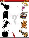 Education shadows game cartoon Stock Photos