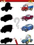 Education shadows game cartoon Stock Image
