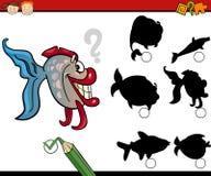 Education shadows game cartoon Stock Photography
