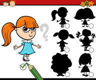 Education shadows game cartoon Stock Photo
