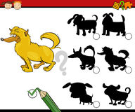 Education shadows game cartoon Royalty Free Stock Images