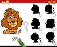 Education shadows game cartoon Royalty Free Stock Photos