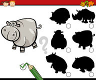 Education shadows task cartoon Royalty Free Stock Image