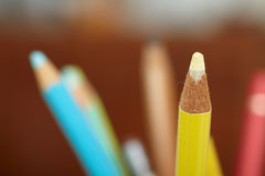 Education - sharpened colourful pencil Royalty Free Stock Photography